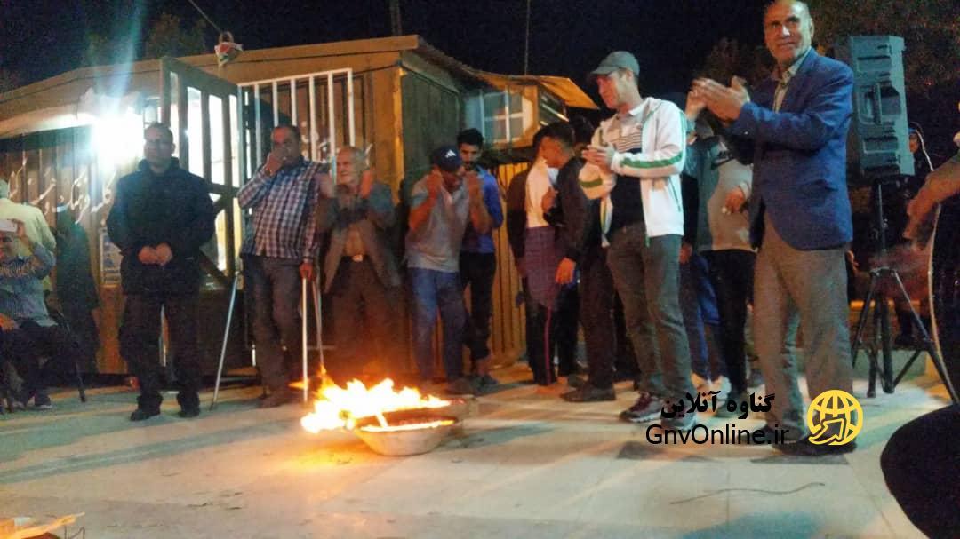 جشن چهارشنبه سوری در بندر گناوه برگزار شد